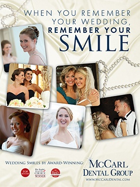 McCarl Dental Group poster at Riggs Alumni Center Wedding Open House