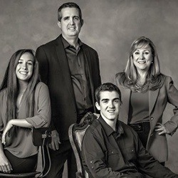 Dr. Jay McCarl and his family
