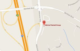 Map to Millersville dental office