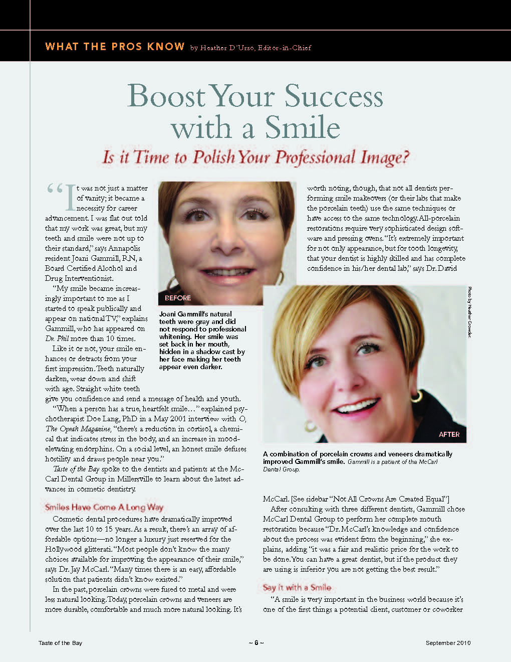 Boost Your Success with a Smile Page 1