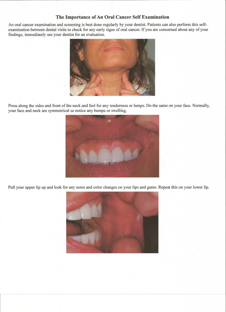 Oral Cancer Self Exam Page 1