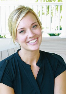 Kate with Invisalign aligners