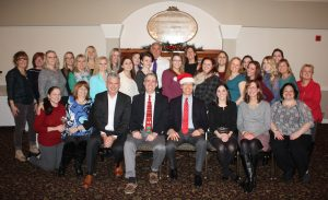 McCarl Dental Group Team celebrating Christmas and employee anniversaries